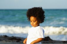Free Young Child At The Beach Royalty Free Stock Photography - 5106337
