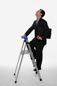 Free Climbing The Corporate Ladder Royalty Free Stock Photography - 5107087