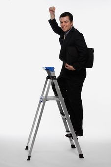 Free Climbing The Corporate Ladder Stock Photos - 5107093