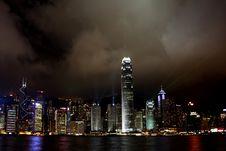 Free Hong Kong Island Light Show Royalty Free Stock Image - 5107496