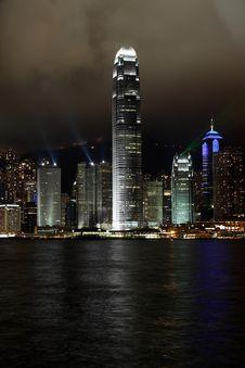 Free Hong Kong Island Light Show Stock Image - 5107521