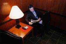 Free Businessman In Waiting Room Stock Photography - 5107532