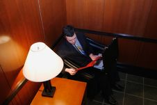Free Businessman In Waiting Room Stock Photos - 5107533