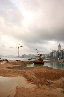Free Hong Kong Land Reclaimation Stock Photography - 5107562