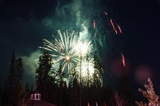 Firework In Banff Town Stock Image