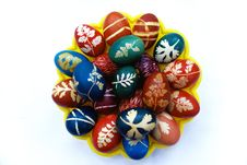 Free Easter Eggs Plate Royalty Free Stock Photos - 5107838