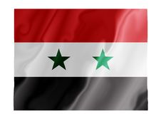 Syria Fluttering Royalty Free Stock Photos