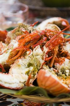 Lobster Plate Royalty Free Stock Photo