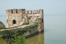 Old Stone Serbian Fortification On Danube Royalty Free Stock Photos