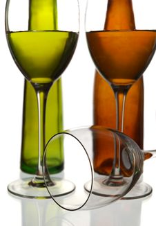 Free Wine Bottles And Glasses Stock Photos - 5109003