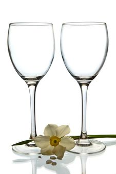Free Empty Glasses Royalty Free Stock Image - 5109016