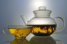Free Glass Teapot And Tea Cup Royalty Free Stock Image - 5109106