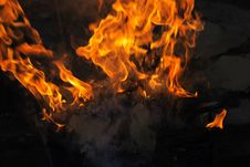 Free Cardboard On Fire Royalty Free Stock Photo - 5109315