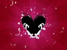 Free Black Heart Illustration Royalty Free Stock Photography - 5109417
