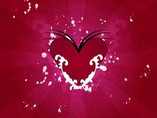 Free Red Heart Illustration Stock Photography - 5109532