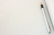 Free Pen On Blank Squared Paper Royalty Free Stock Image - 5109556
