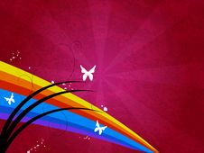 Free Butterfly Swirl Grunge Vector Illustration Stock Photo - 5109620
