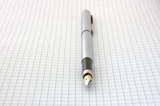 Free Pen On Blank Squared Paper Stock Photos - 5109813