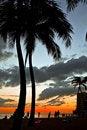 Free Sunset At Waikiki Beach Stock Images - 5110004
