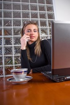 Free Businesswoman In An Office Stock Image - 5110001