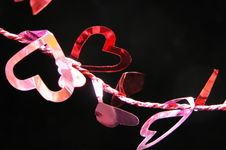 Free Hearts On A String 2 Royalty Free Stock Images - 5110069