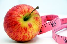 Free Apple And Tape Measure 4 Stock Photography - 5110372