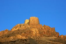 The Dilapidated Castle In Tibet Stock Image