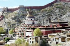 Free The Tibetan Lama Temple On A Hill Royalty Free Stock Photo - 5111655