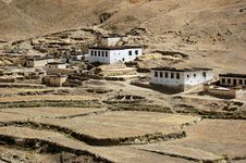 The Small Village On Tibet  Plateau Stock Photography