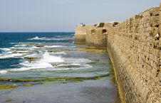 Free Old Sea Walls Of Old Akko Stock Images - 5112064