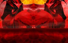 Red Devil Abstract Stock Images