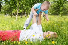 Free Mother And Son Playing Stock Photography - 5112892