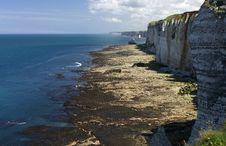 Cliffs Near Etretat, Normandy, France Stock Photos