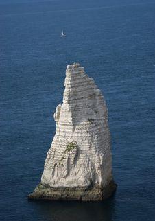 Cliffs Near Etretat, Normandy, France Stock Photo