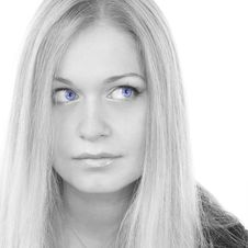 Free Pretty Blue-eyed Woman Royalty Free Stock Image - 5114466