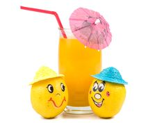 Free Cheerful Little Men From A Fruits Stock Photo - 5114950