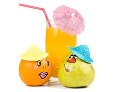 Free Cheerful Little Men From A Fruits Stock Images - 5114964