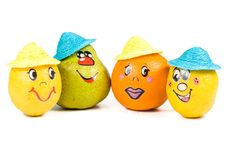 Free Cheerful Little Men From A Fruits Royalty Free Stock Photo - 5114975