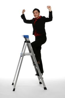 Free Climbing The Corporate Ladder - Victory Is Mine Royalty Free Stock Images - 5114979