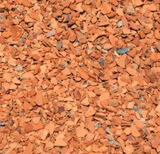 Red Brick Chips Stock Images