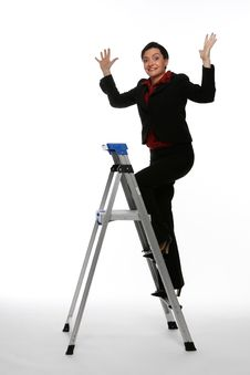 Free Climbing The Corporate Ladder - Spirit Fingers Royalty Free Stock Image - 5114996