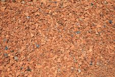 Red Brick Chips Stock Image