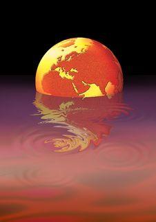 Free Floating Globe Stock Image - 5115051