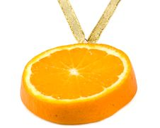 Free Medal From A Juicy Orange. Stock Image - 5115231