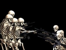 Free Many War Skeletons 5 Royalty Free Stock Photography - 5115957