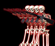 Free Many War Skeletons 6 Royalty Free Stock Images - 5115959
