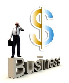 Free Money And Business Man On Word 44 Stock Photography - 5115972