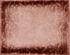 Brown Floral Grungy Royalty Free Stock Images