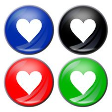 Heart Button Royalty Free Stock Photography
