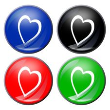 Heart Button Stock Images